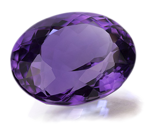 February Birthstone Amethyst Quartz Diamond Karma