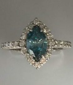 bhp empress loose fancy ebay blue ct diamond irradiated mcu pear